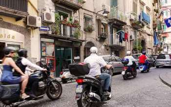 Quartieri Spagnoli, a scenic but dangerous part of Naples, Italy, where Rolex theft is rife.
