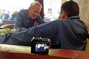 A Pickpocket's story: To three cameras and an audio recorder, Pedro told a pickpocket's story. He frequently turned to look at me, putting his face in the picture.