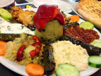 Turkish counterfeits: Turkish mezze plate.