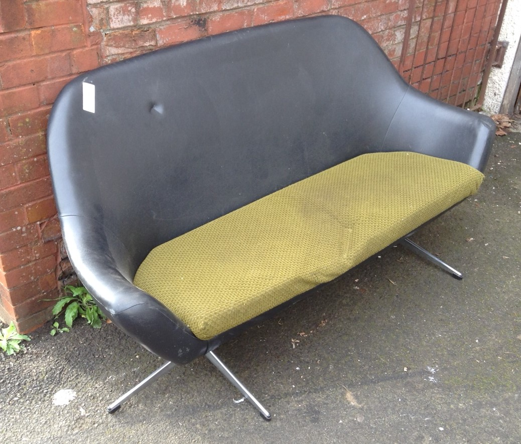 Retro Sofa Bristol Retro Two Seat Sofa With Chrome Legs For Sale Reupholstery