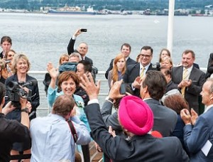 Premier Christy Clark at Canada Place, June 7 (Gov't of B.C.)
