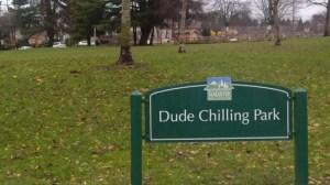 DudeChillingSign