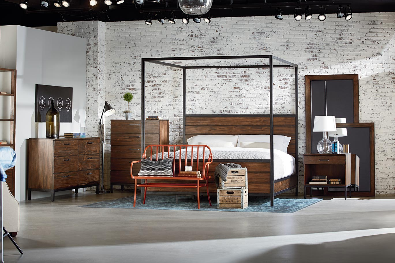 Industrial Bedroom Furniture Magnolia Home Furniture By Joanna Gaines Bob Mills