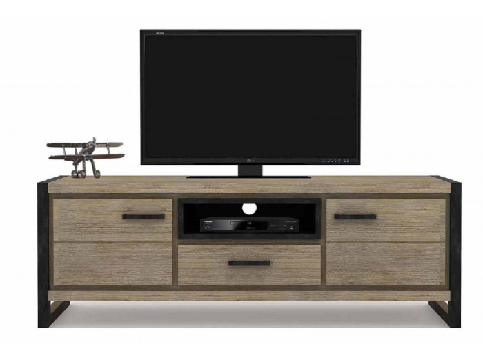 Meuble Tv Scandinave Anthracite Tv Stand Zara Acacia Wood Bobochic