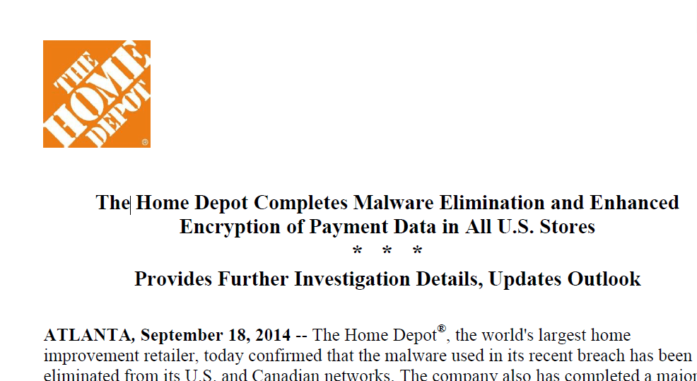 Home Depot Debit Card Compromised