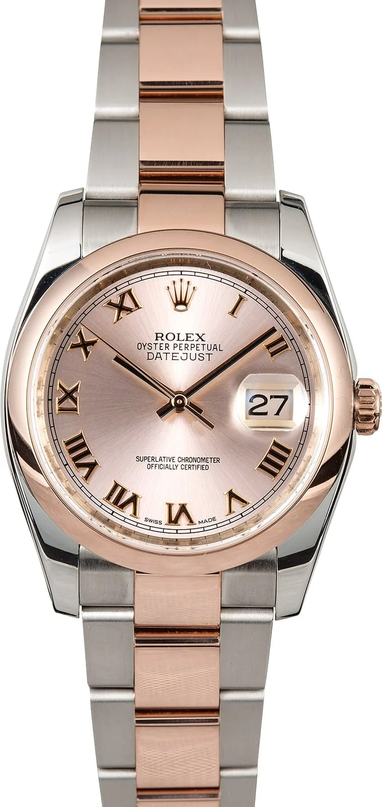 Rolex Oyster Perpetual Rose Gold Rolex Datejust 116201 Rose Gold Oyster