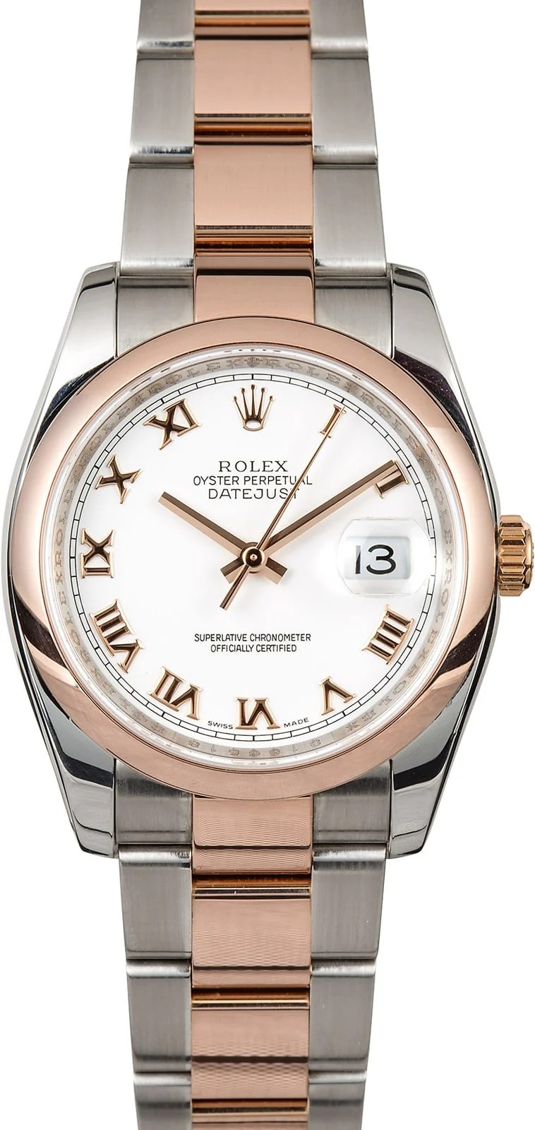 Rolex Oyster Perpetual Rose Gold Rolex Datejust 116201 Two Tone Rose Gold
