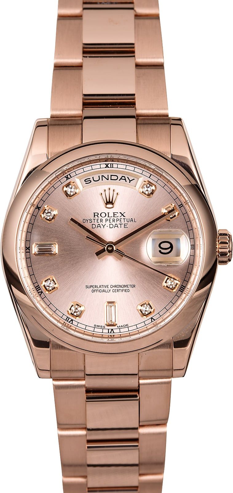 Rolex Oyster Perpetual Rose Gold Rolex Day Date 118205 18k Rose Gold