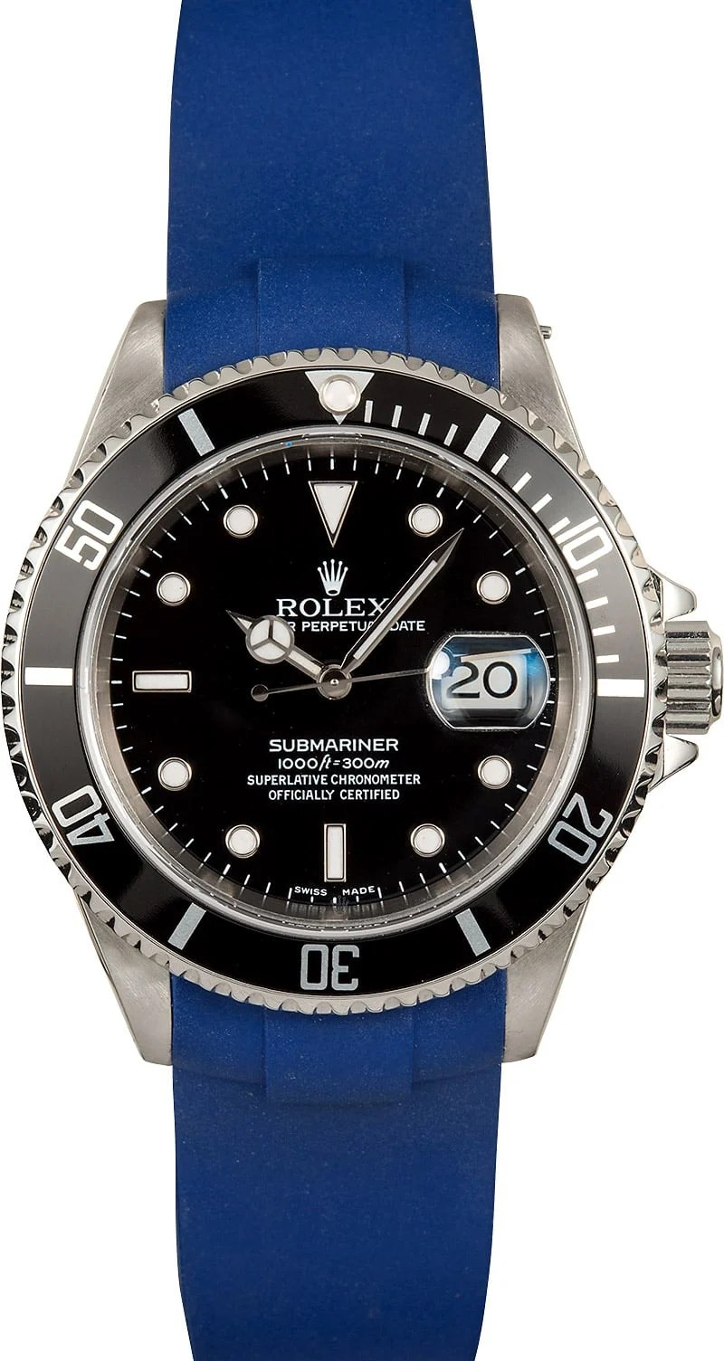 Rolex Rubber Rolex Submariner 16610 Rubber Strap
