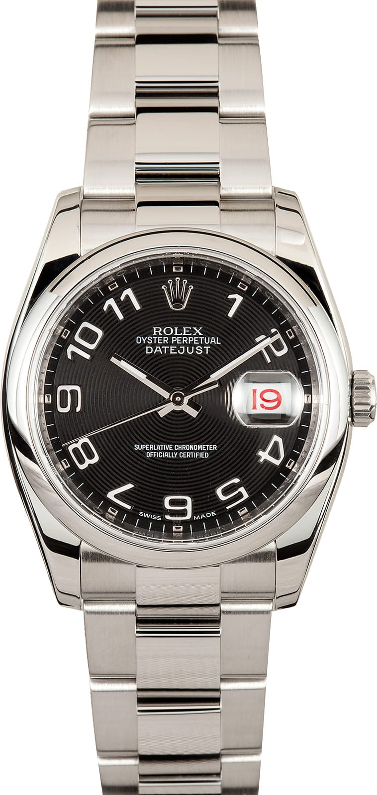 Cellini Watch Men's Rolex Datejust Watch Black Dial 116200 - Bob's Watches