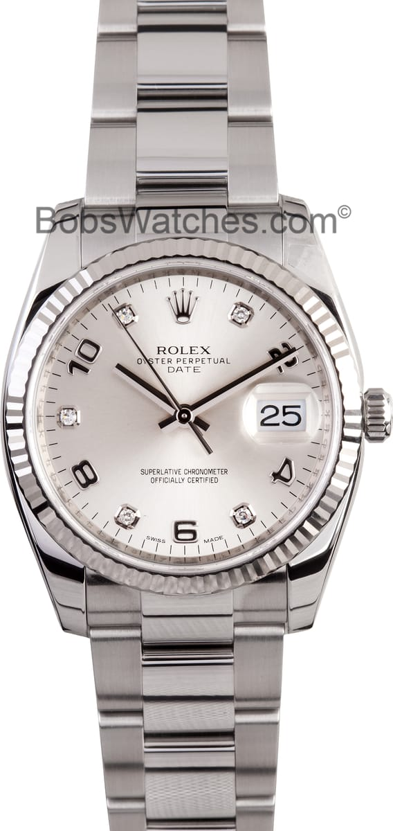 Cellini Watch Rolex Date Stainless Steel Diamond Dial- Get Exclusive Savings