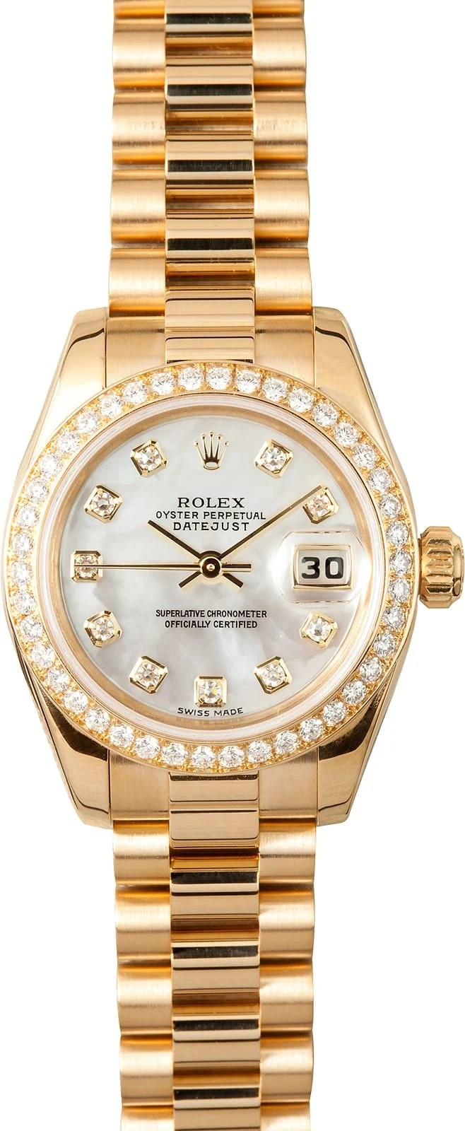 Cellini Watch Ladies Gold Rolex President 179138 - Save Up To 50% Off