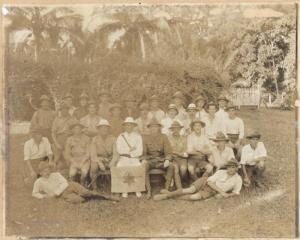 Star Boating Club :Photograph of members of the club who went to Samoa with Expeditionary Force, 1914.. Ref: PAColl-5216. Alexander Turnbull Library, Wellington, New Zealand. http://natlib.govt.nz/records/22348195