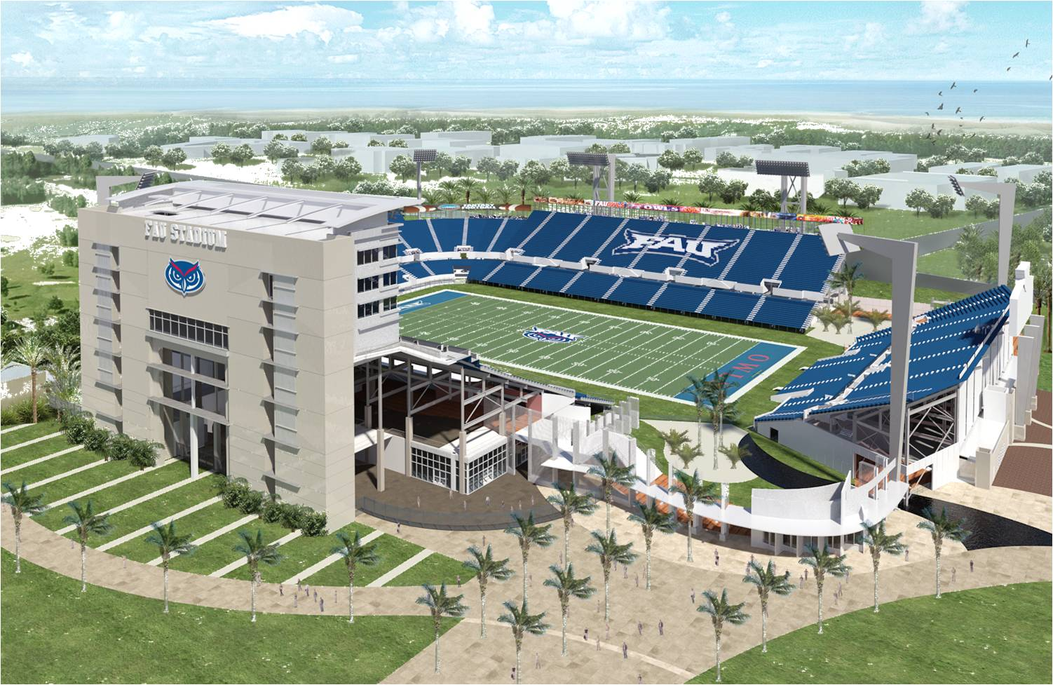 It S First And Goal For New Football Stadium At Florida