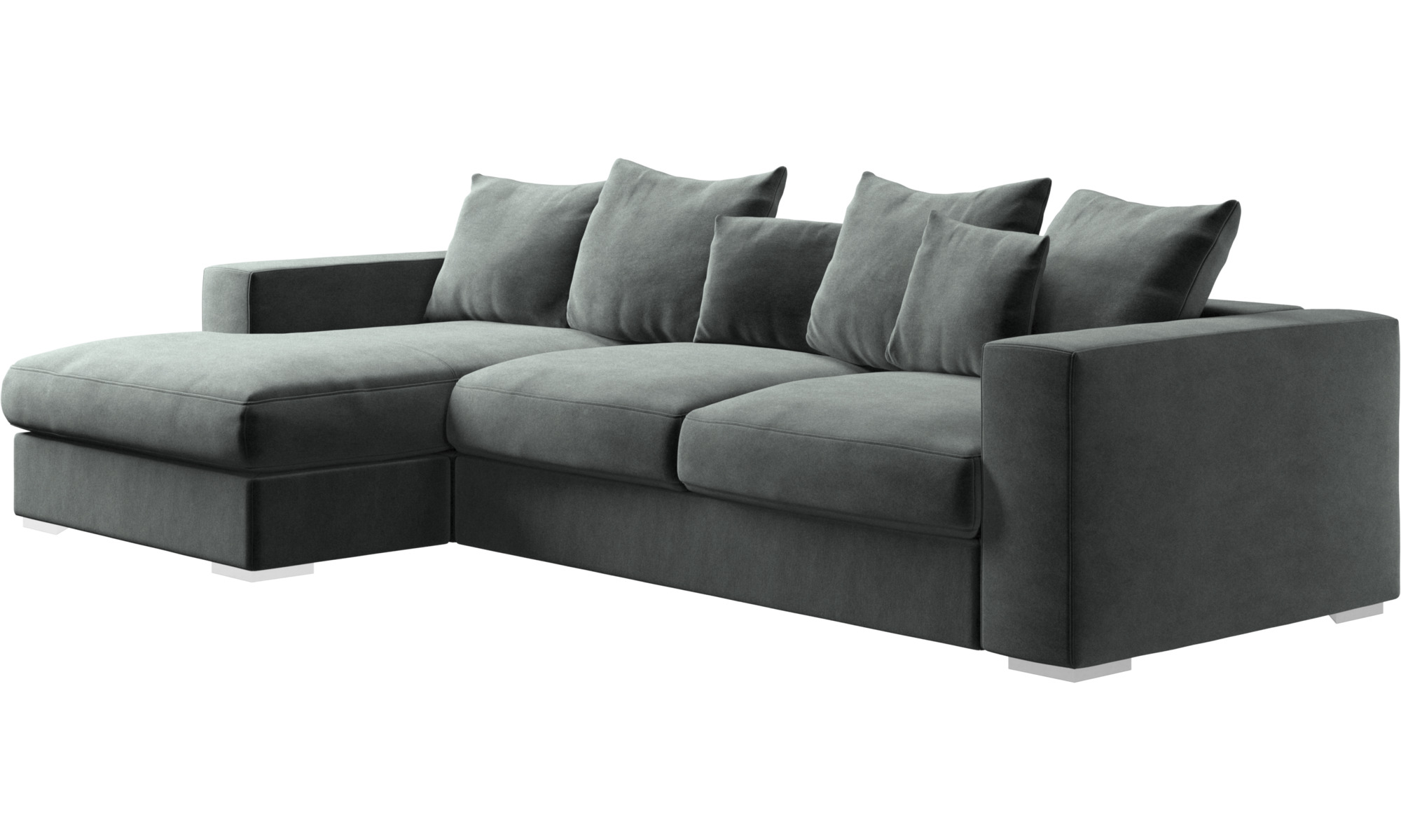 Sofa With Chaise Lounge Chaise Lounge Sofas Cenova Sofa With Resting Unit