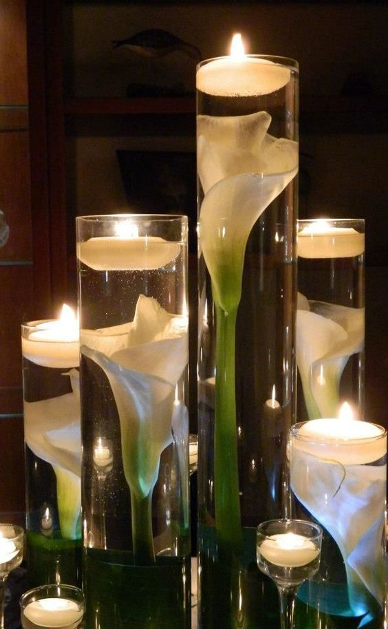 How To Swag A Chandelier Candle & Lighted Centerpieces For Wedding Receptions: 24 Ideas