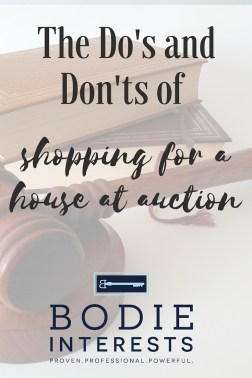 Dos and Donts of shopping at auction Bodie Interests (1)
