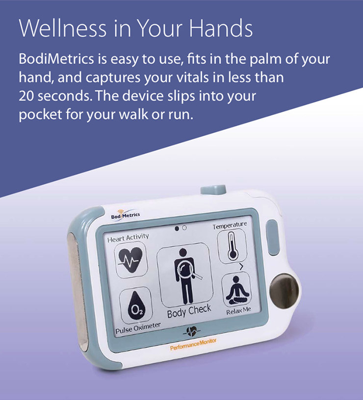 Portable vital signs  patented health index for indicators of