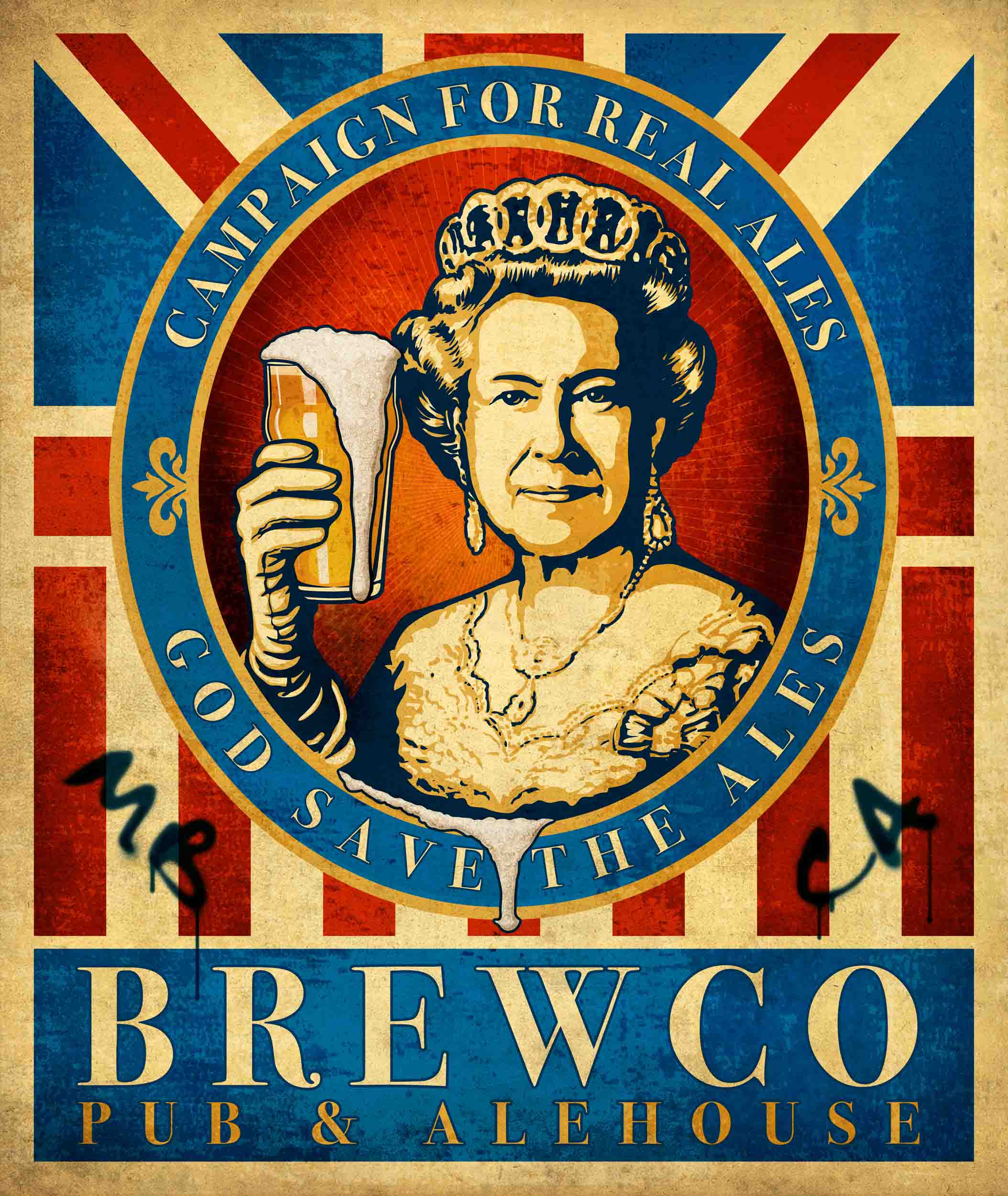 Brewco God Save the Ales poster.