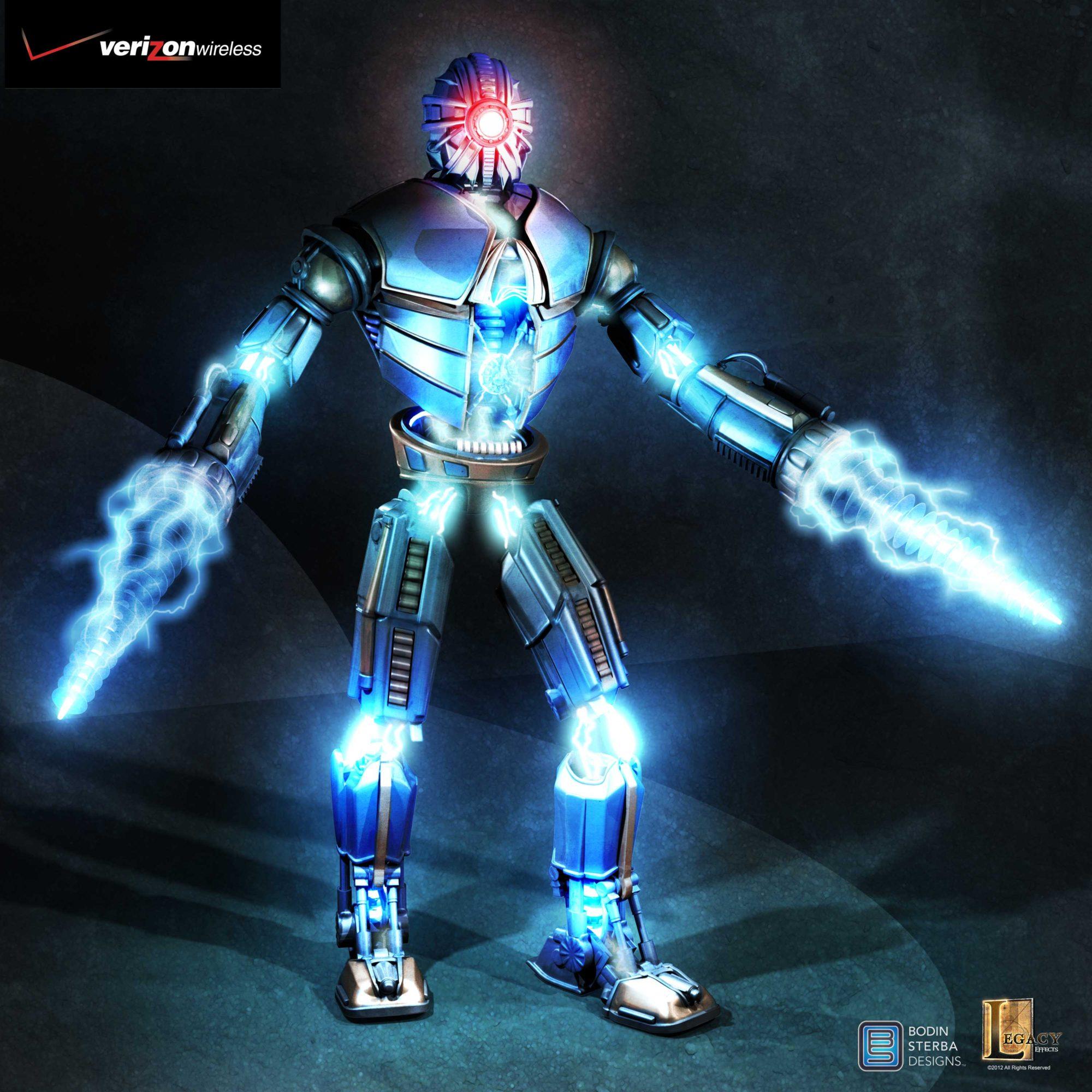 Verizon 4GE robot concept v04.2 designed for Legacy Effects.