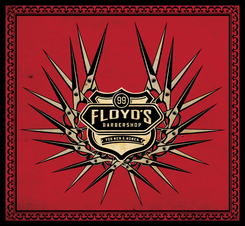 Floyds Barbershop Scissors T-shirt design