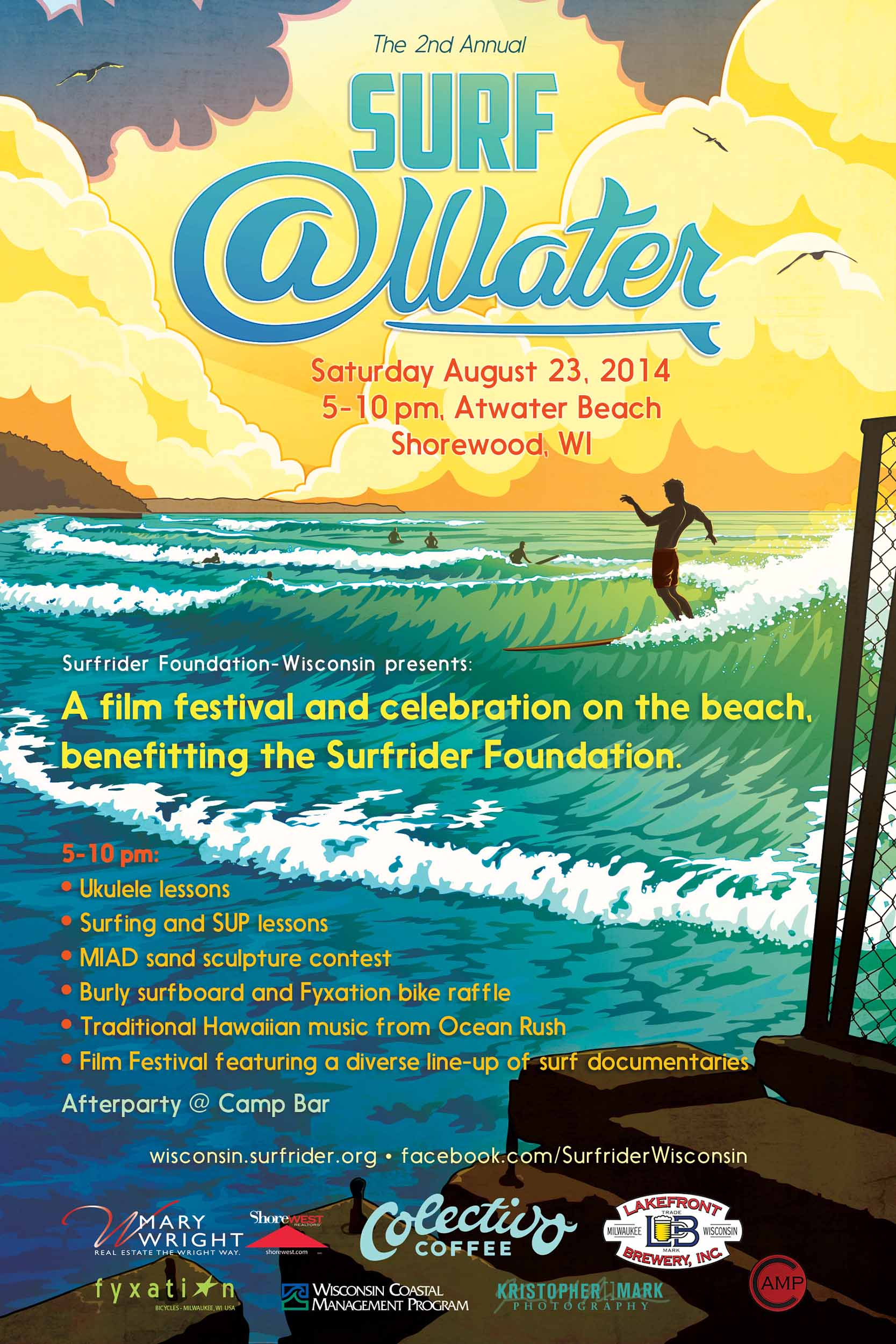 2nd Annual Surf @Water poster