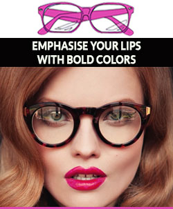 Emphasis-lips-with-bright-lipstick-when-wearing-glasses