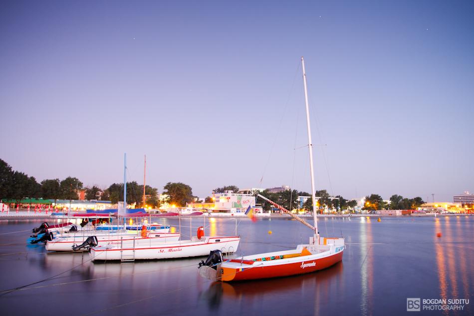Boats before sunrise