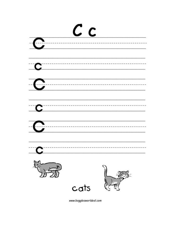 Letter C Alphabet Worksheets