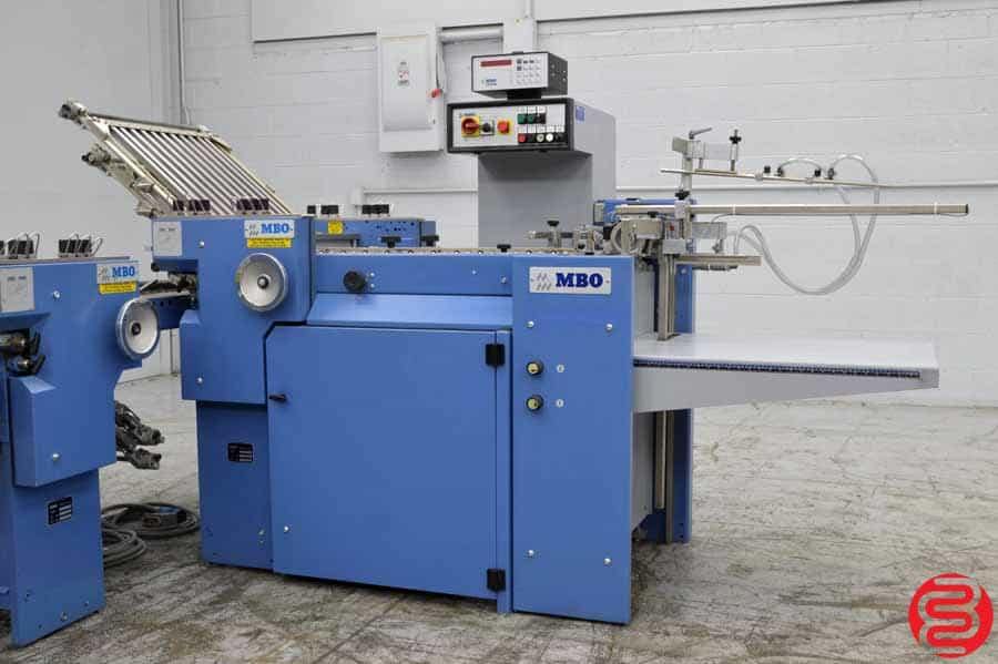 MBO B21 Pile Feed Paper Folder w/ 8 Page Unit and Roll Away Delivery
