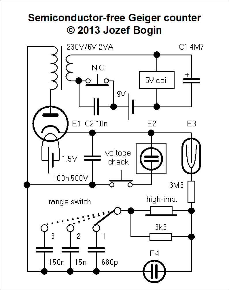 semiconductor geiger counter schematic