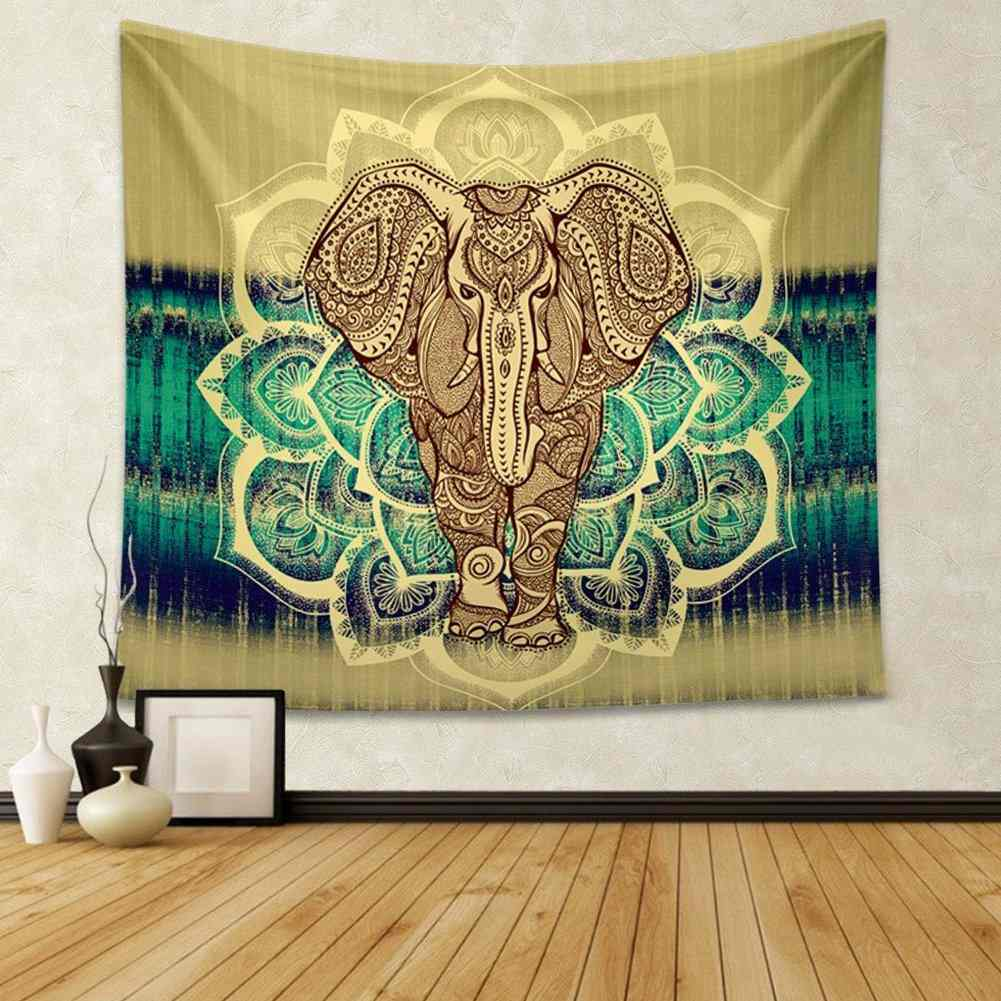 Teppich Mandala Tapestry Wall Hanging With Elephant Print - Bohemian Pants