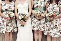 Floral Bridesmaids Dresses | Glitter, Inc.
