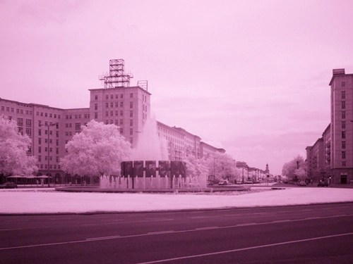 Infrared photo - Karl Marx Alee