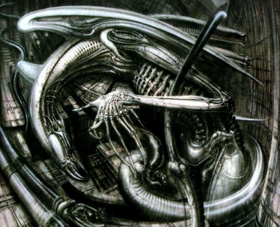 'Necronomicon IV,' by HR Giger (1976).