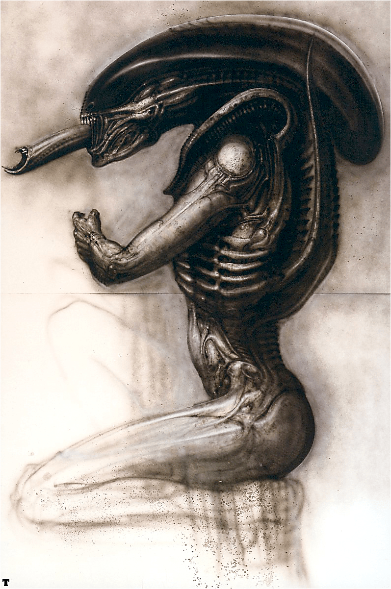Concept art by Giger for 'Alien.'