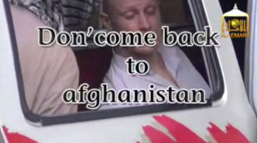Still from a video made by the Taliban insurgents who held