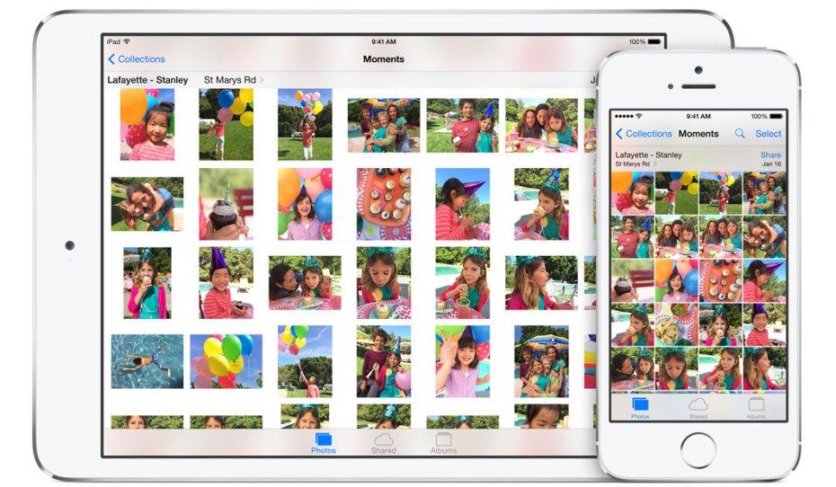 Apple's Photos app for iOS8.