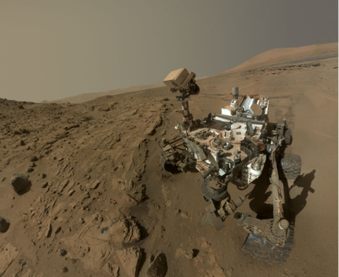 NASA's Mars Curiosity Rover captures a selfie to mark a full Martian year -- 687 Earth days -- spent exploring the Red Planet. [NASA/JPL]