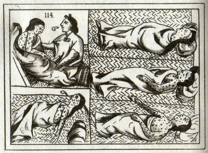 16th-c. Aztec drawing of smallpox victims.