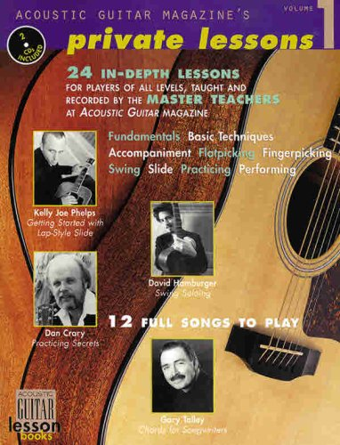 Acoustic Guitar Magazine's Private Lessons, Vol 1 (Book & 2 CDs)
