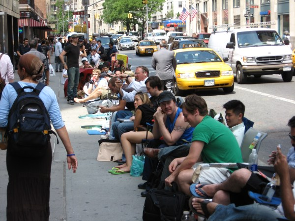 """""""Waiting for iPhones NYC"""" photo by Bastique"""