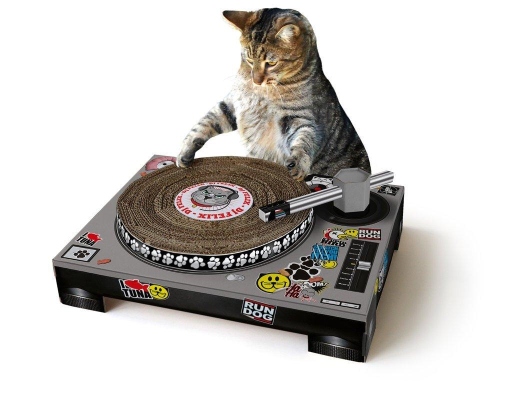 Suck UK Cat Scratching DJ Deck