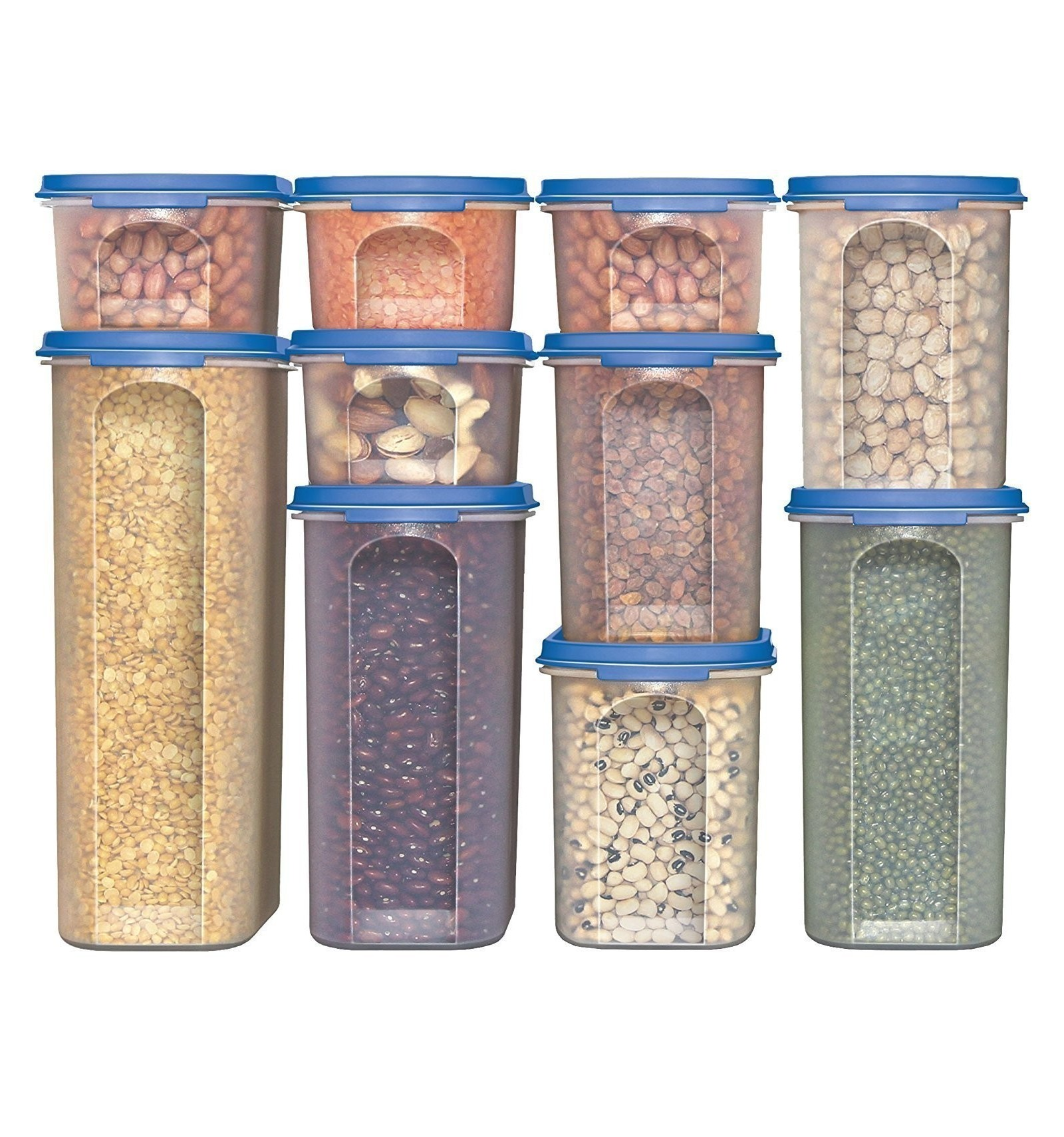 Food Storage Containers Stacko 20 Pc Airtight Dry Food Container With Lids 10 Container Set On Line At Lowest Price