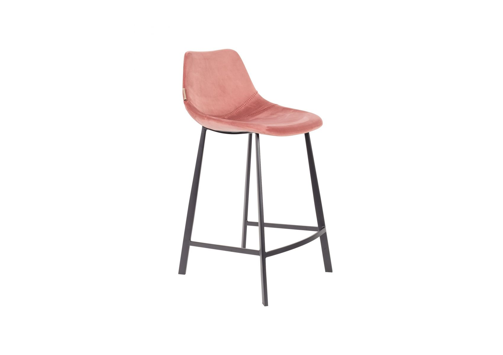 Tabouret De Bar Assise 65 Lot De 2 Tabourets 65 Cm En Velours Franky Dutchbone