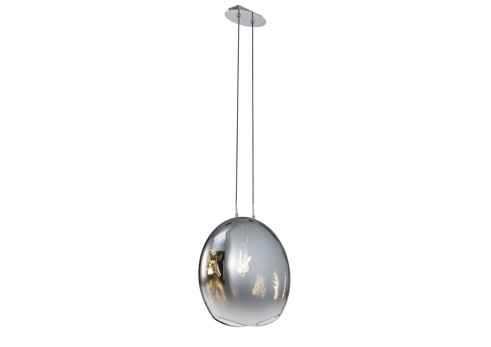 Grande Suspension Luminaire Grande Suspension En Verre Soufflé Graphite Lens Mantra