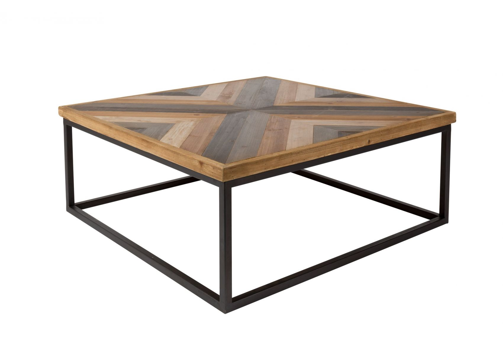 Table Basse Carrée Design Table Basse Carrée Bois Et Metal Style Industriel Joy