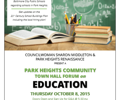 20151008_Park_Heights_Community_Town_Hall_Forum_on_Education