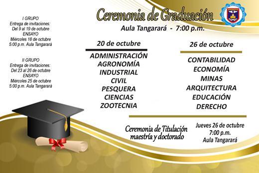 Nuevas fechas de Ceremonia de Graduación « Boletin Digital de la