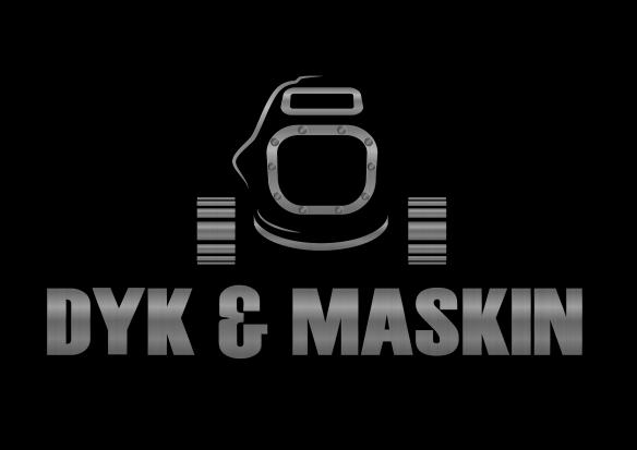 Dyk & Maskin Metall mot svart